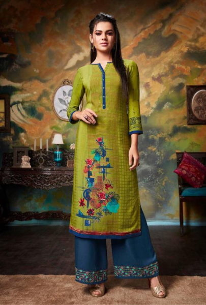 kajree Chambor vol 6 rayon Kurtis with palazzo wholesalers