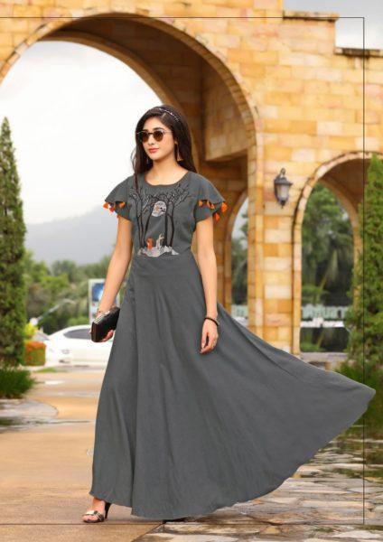 Geeta Tex Gravity Designer Gown Kurtis Manufacturer