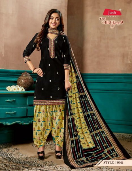 Jash Blue Pari vol 9 cotton print dress materials wholesaler