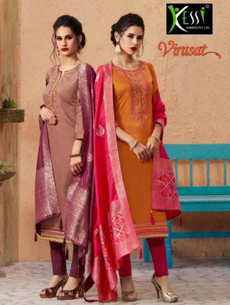 Kessi Virasat Designer Dress Materials wholesaler
