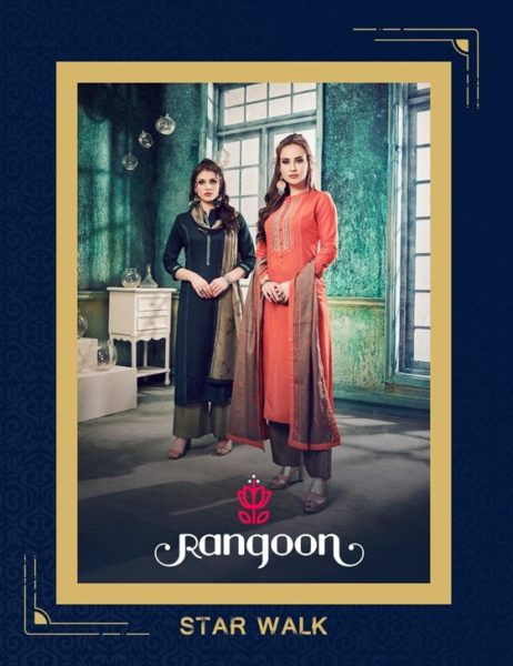 Rangoon Star walk Top Bottom Duppatta Kurtis Wholesaler