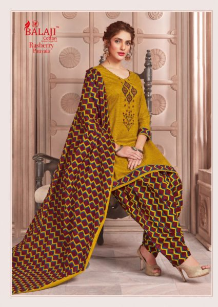 Rasberry Patiyala Balaji Cotton Dress Materials wholesalers