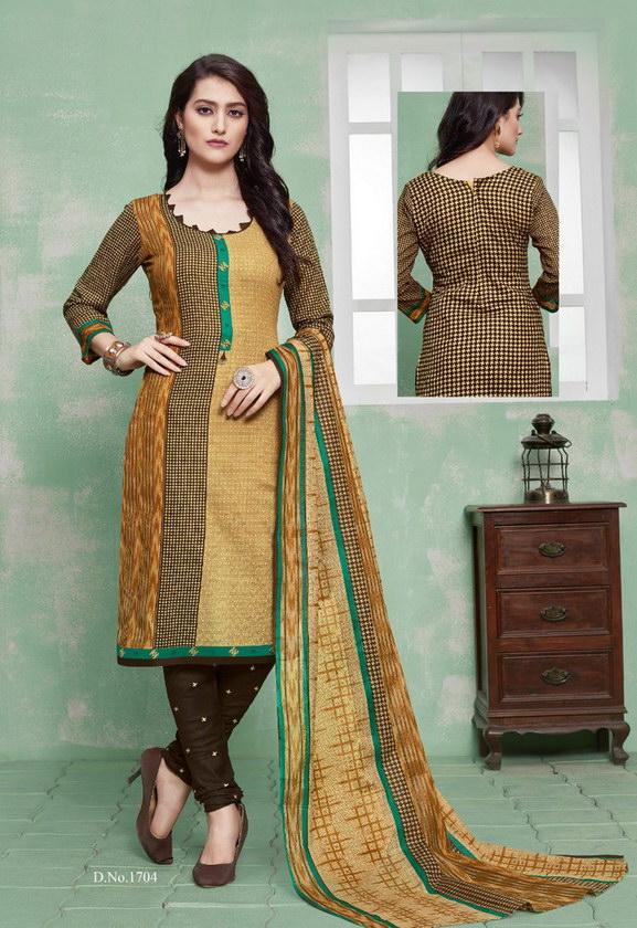 3 Star vol 17 Cotton Printed Dress Materials wholesalers