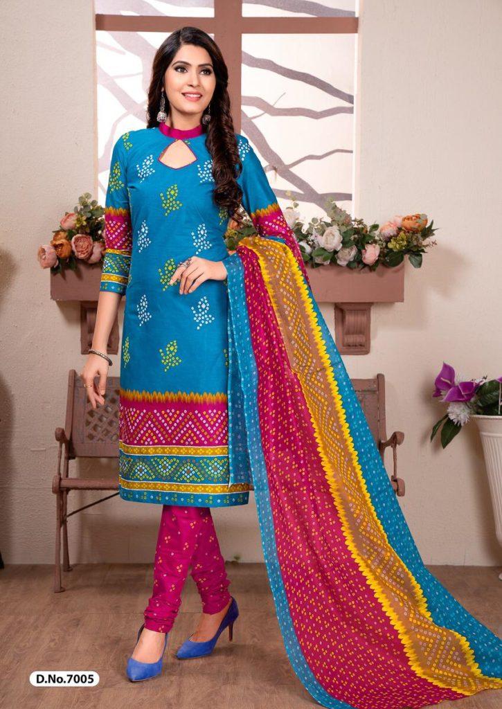 Chunari vol 2 Bandhani print Cotton Dress Materials wholesaler