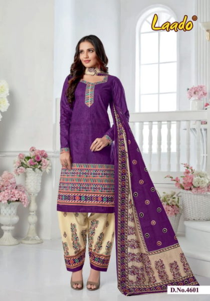 Laado vol 46 Cotton Dress Materials Wholesalers