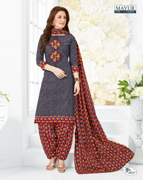 mayur khushi vol 46 cotton dress materials wholesalers