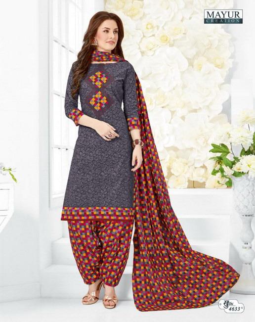 mayur khushi vol 46 cotton dress materials wholesalers