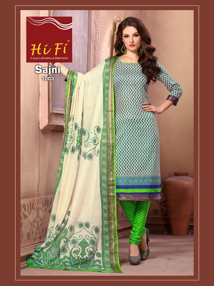 HIfi Sajni Premium cotton Dress Materials wholesalers