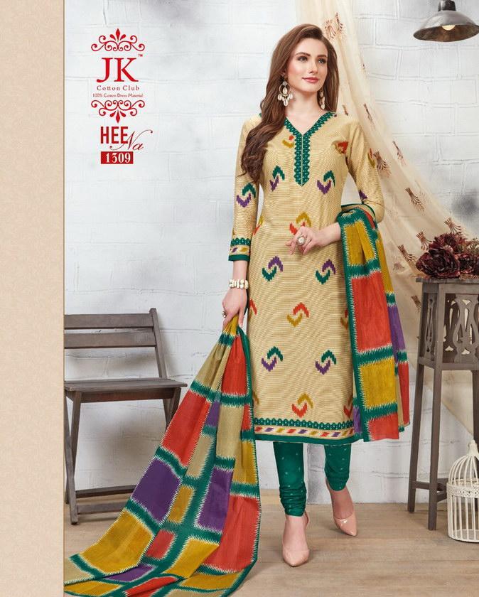 JK Heena vol 13 Cotton Salwar Suits wholesalers