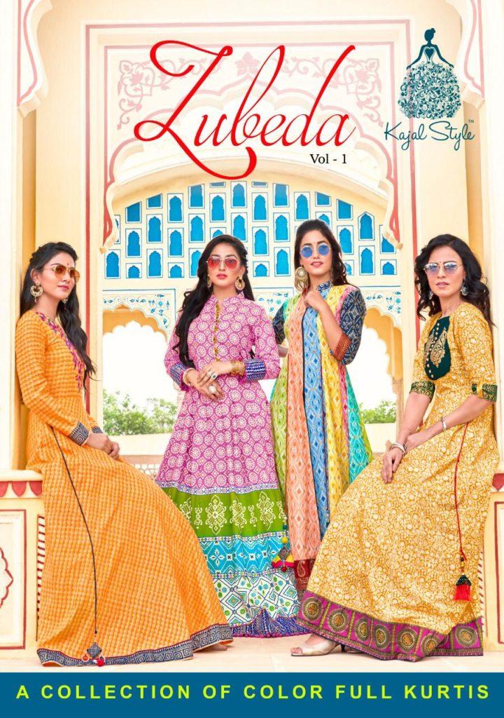 Kajal Style Zubeda Designer Gown Kurtis Wholesalers