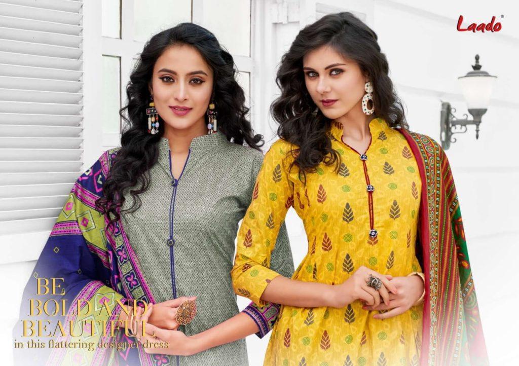 Laado Priyanka Cotton Dress Materials Wholesalers
