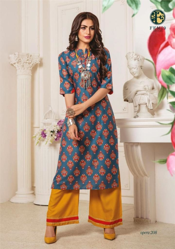 Opera Vol 2 Kurtis with Plazzo Kurtis wholesalers
