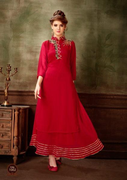 Nakhrali Georgette Gown Kurtis Wholesalers