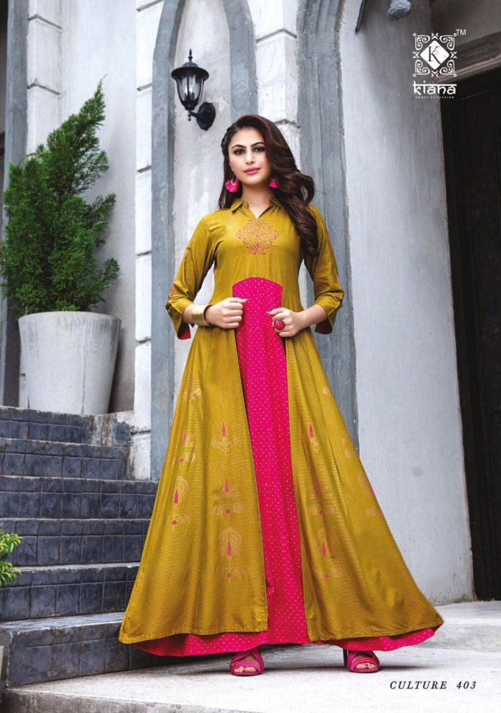 Kiana Culture vol 4 Gown Kurtis wholesalers