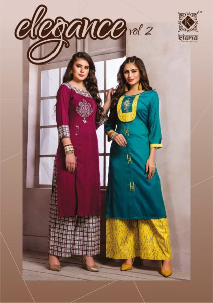 Kiana Elegance vol 2 Kurtis with plazzo wholesaler