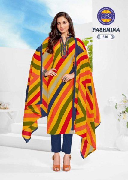 MFC Pashmina vol 8 cotton printed dress materials wholesalers