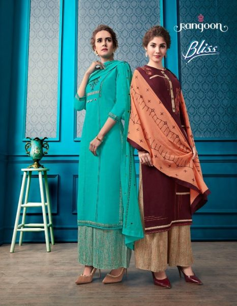 Rangoon Bliss Kurtis with palazzo and dupatta wholesalers