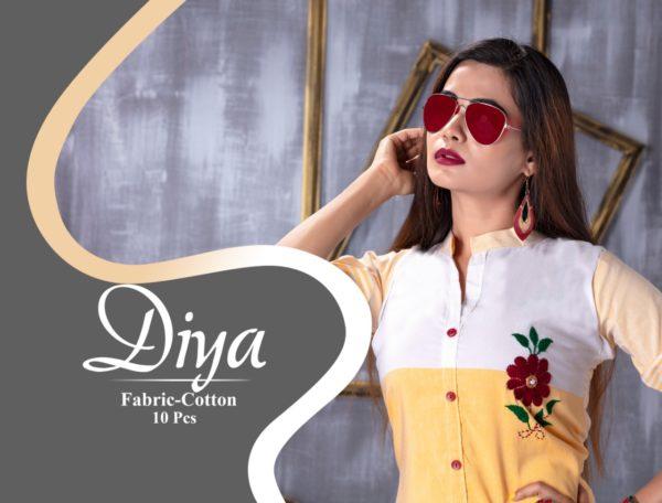 Sakhi Diya Cotton Frock style Kurtis Manufacturers