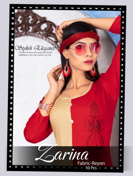 Zarina Designer Reyon Kurtis Manufacturers