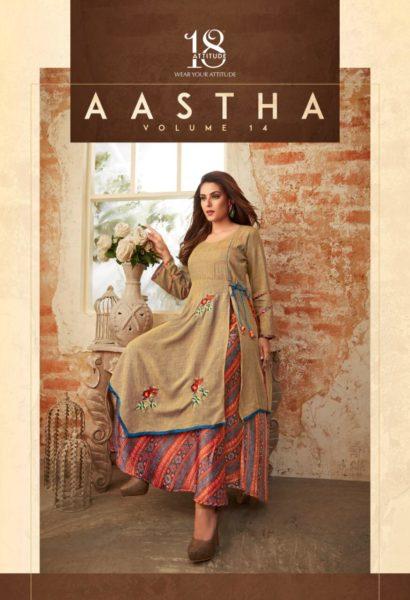 Aastha vol 14 18 Attitude Designer Gown Kurtis wholesalers
