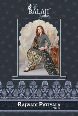 Balaji Rajwadi Patiyala vol 5 Cotton Print Salwar Suits