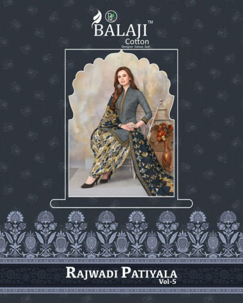 Balaji Rajwadi Patiyala vol 5 Cotton Print Salwar Suits