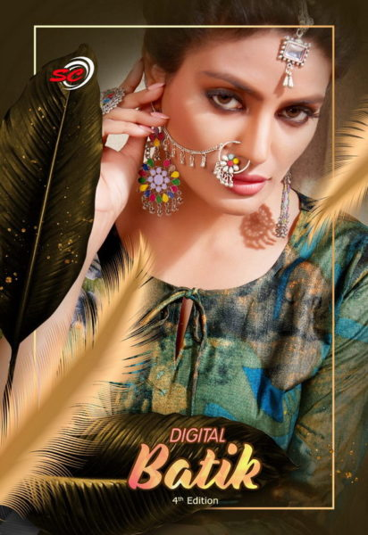 Digital Batik Cotton Printed Salwar Suits wholesalers