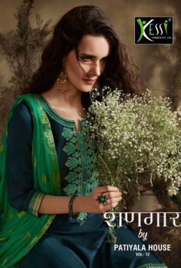 Kessi shangar vol 12 jam silk cotton punjabi suit wholesalers