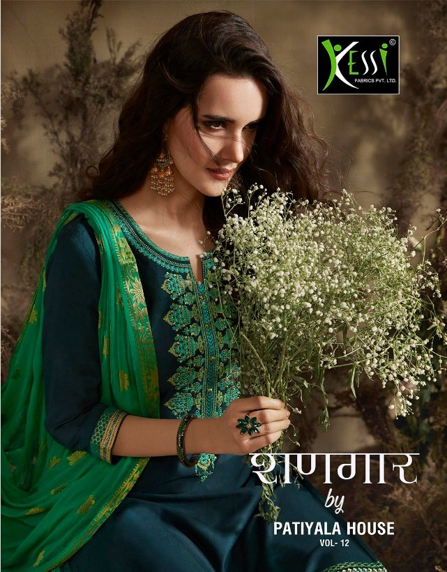 Kessi shangar vol 12 jam silk cotton punjabi suit wholesalers