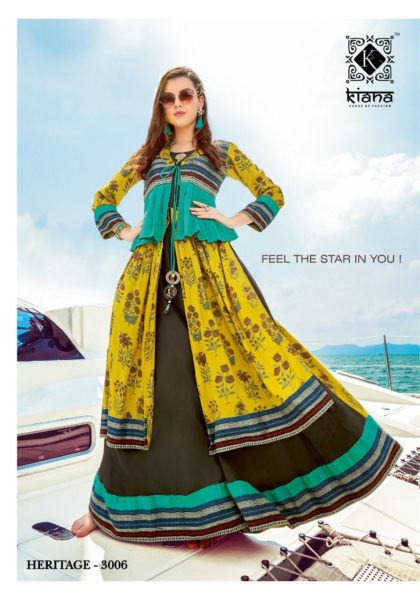 Kiana Heritage vol 3 Designer Long Gown Kurtis wholesalers