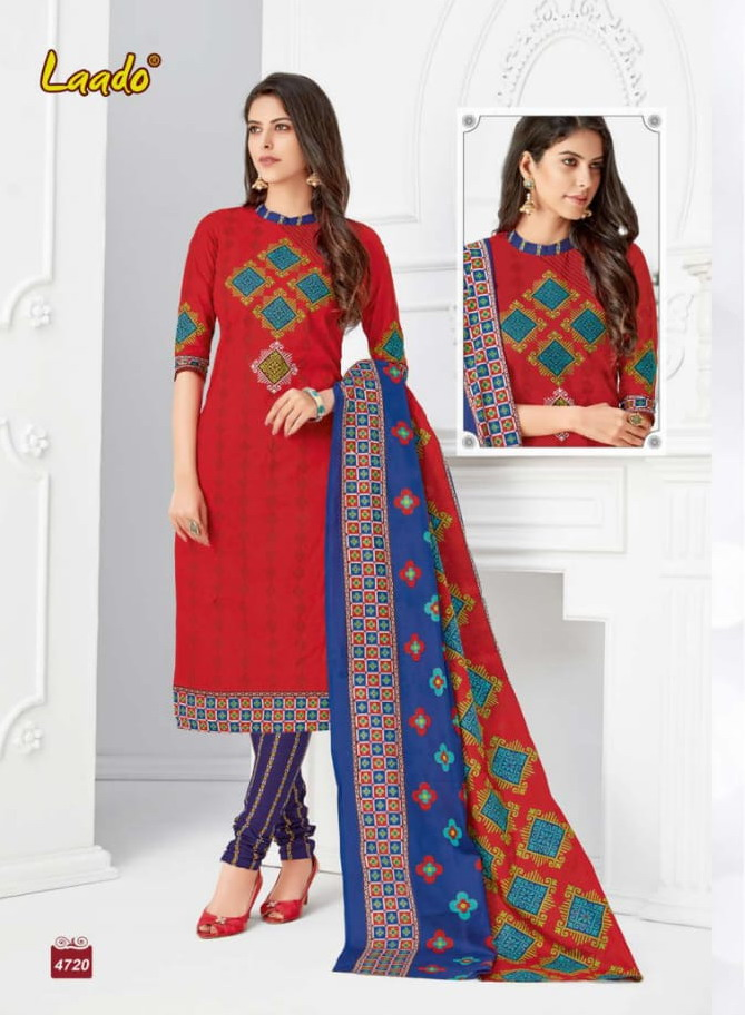 Laado vol 47 cotton printed Dress Materials wholesalers