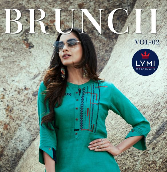 Lymi Brunch vol 2 Rayon short top Kurtis wholesalers