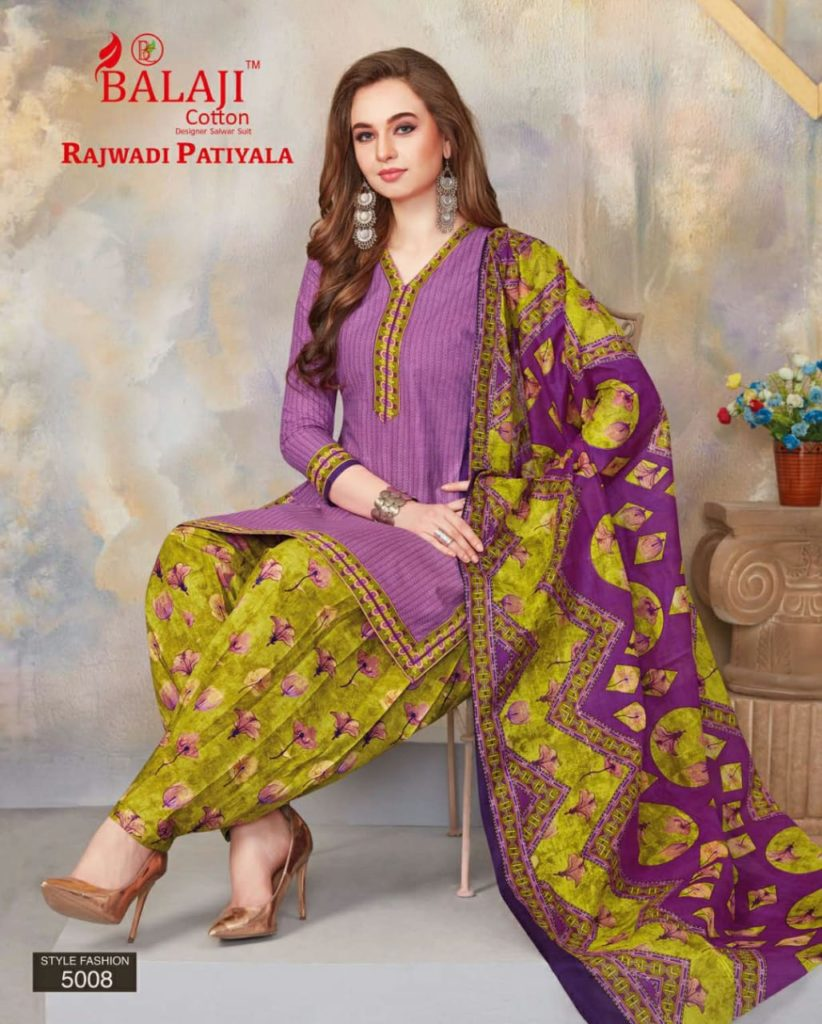 Rajwadi Patiyala vol 5 Readymade Cotton Salwar Suits