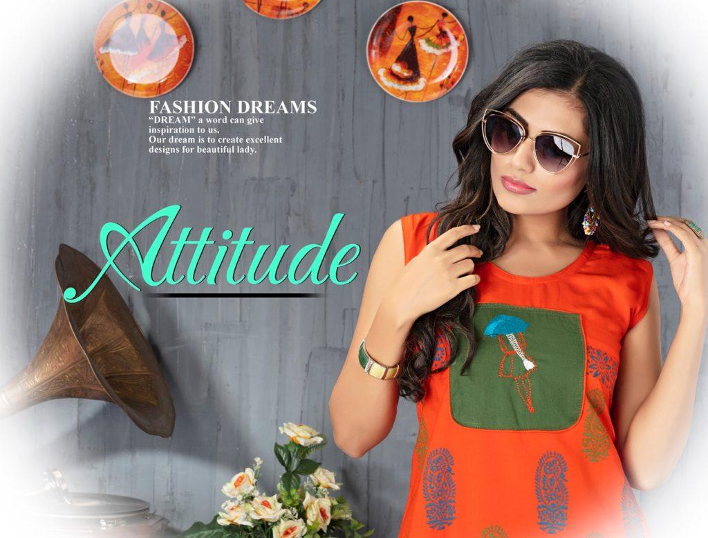 Sakhi Attitude Long Rayon Kurtis Manufacturers