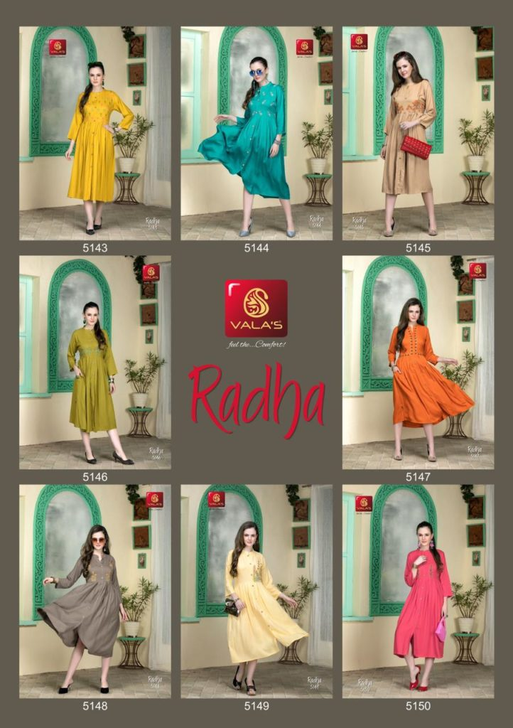 Vala's New Catalogs 8th August Kurtis Wholesalers