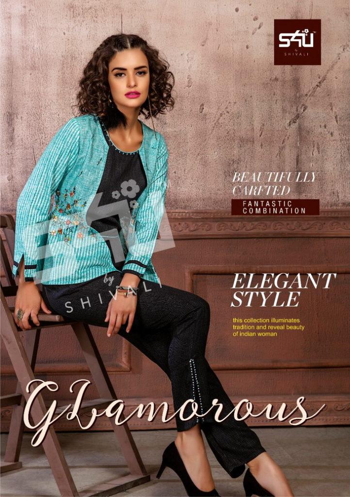 s4u Shivali Glamorous Top with bottoms pair wholesalers