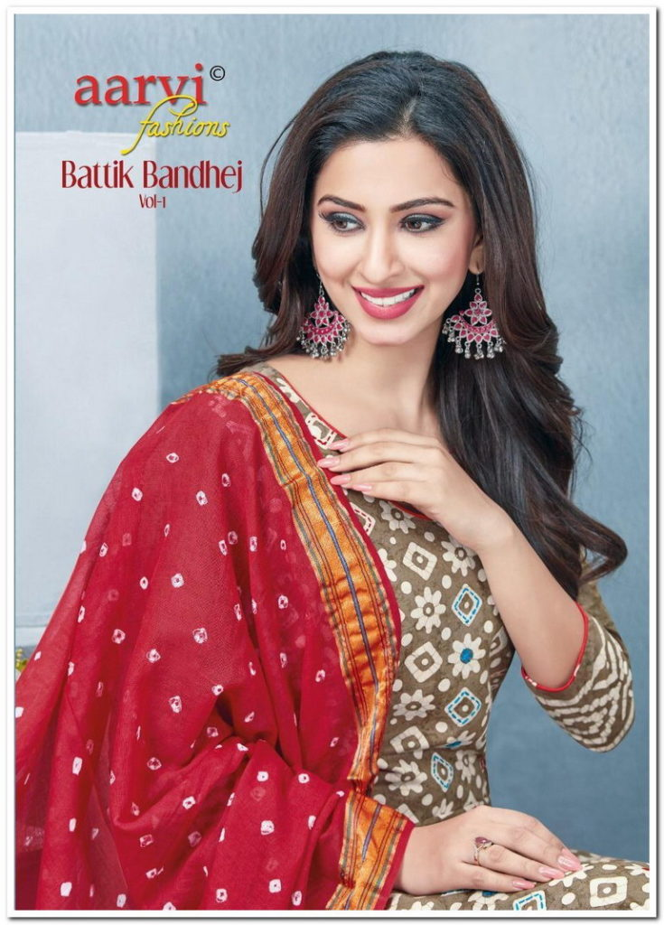 Aarvi Batik Bandhej vol 1 Salwar Suits Wholesalers