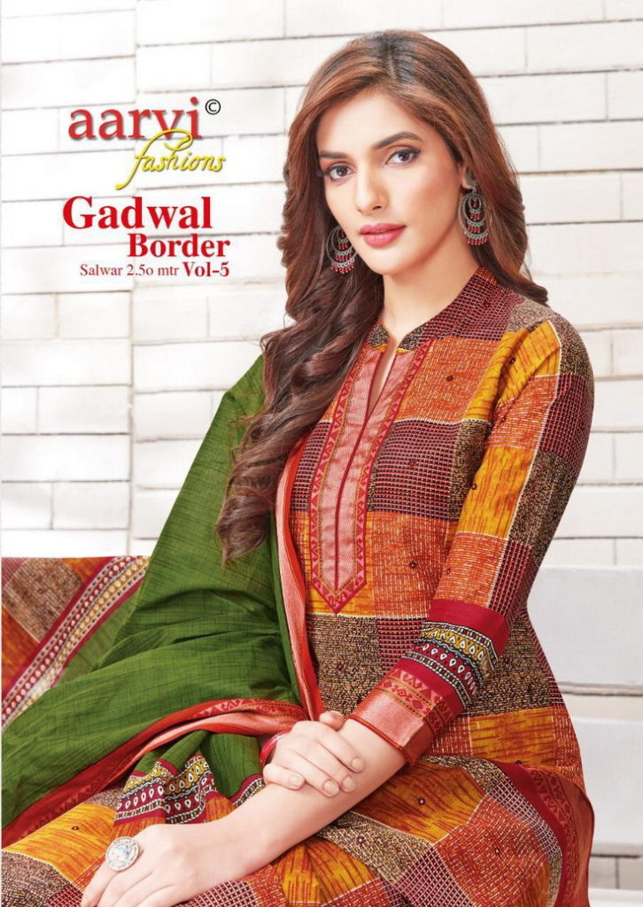 Aarvi Gadwal Border vol 5 Dress Materials Wholesalers
