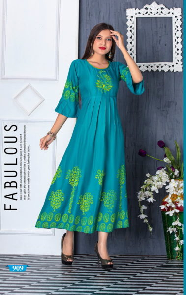 Haseen vol 5 Frock style Kurtis Manufacturers