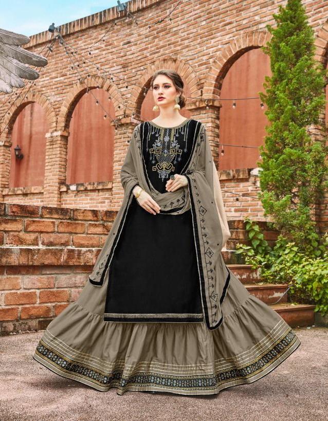 Kalaroop Ruby by kajree Readymade lehenga style Designer suits