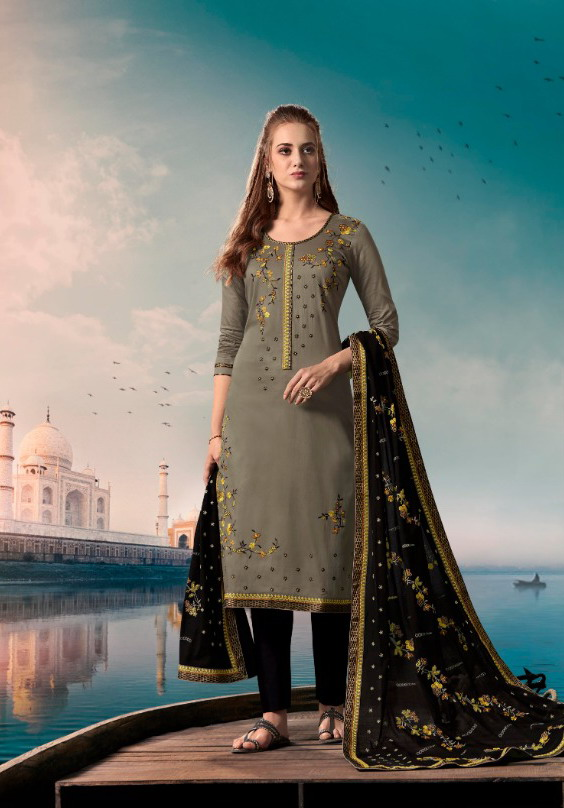 Kessi Taj jam silk cotton salwar suits wholesaler