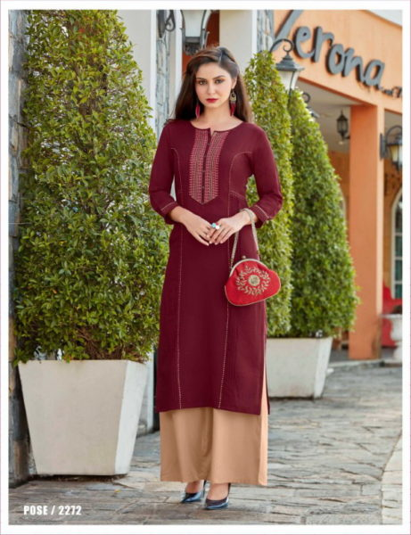 Rangoon Star walk vol 2 Long Kurtis with palazzo wholesaler