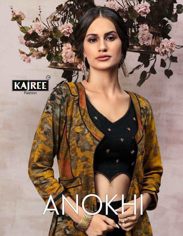 Kajaree Anokhi Designer Long Kurtis with shrug wholesaler