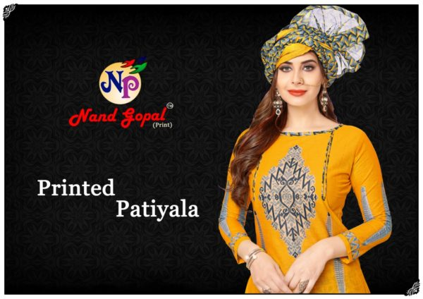 Nand Gopal Printed Patiyala Dress Materials wholesalers
