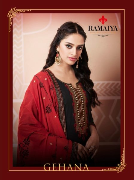 Ramaiya Gehana cotton work salwar kameez wholesalers