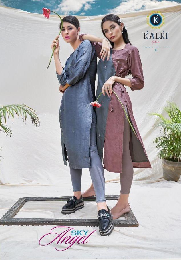 Sky Angel Kalki Fashion Silk Kurtis wholesalers
