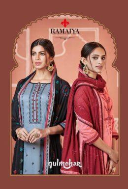 Kessi Gulmohar jam silk Dress Materials Wholesalers