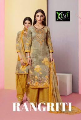 kessi Rangriti jam cotton print dress materials wholesalers