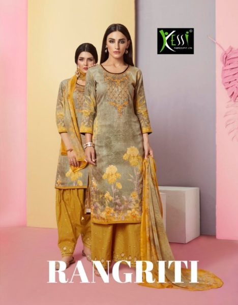 kessi Rangriti jam cotton print dress materials wholesalers
