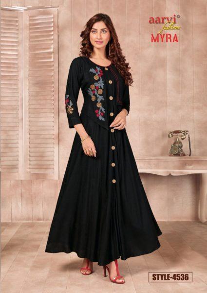 Aarvi Mayra Long Gown Kurtis Wholesalers